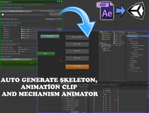 پکیج AE2Unity: After Effect To Unity Animation - تصویر شماره 1