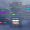 پکیج !Flat clean GUI - over 200 PNG files - تصویر شماره 4