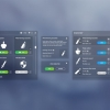 پکیج !Flat clean GUI - over 200 PNG files - تصویر شماره 8