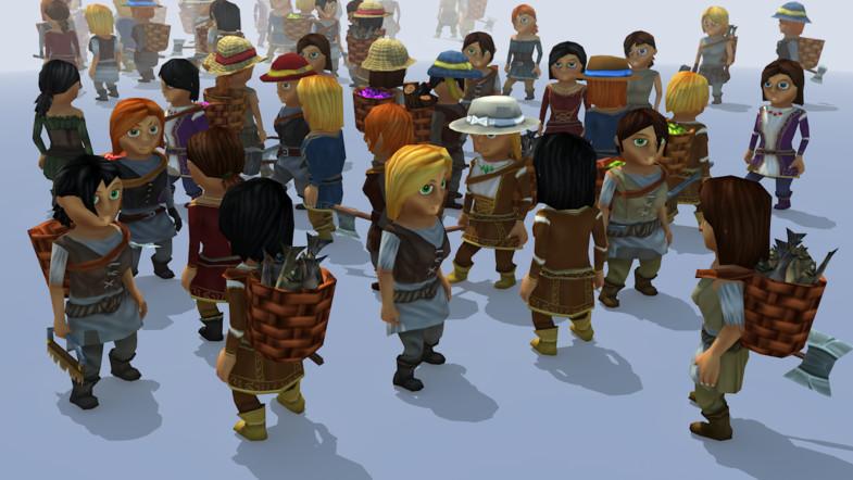 پکیج 20k Animated Fantasy Female Characters