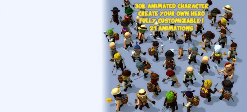 پکیج 3000Animated Characters