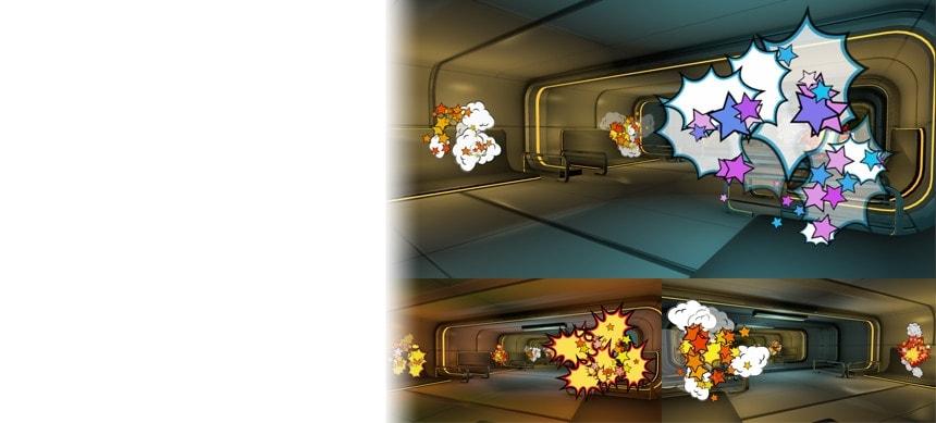 پکیج 3D Cartoon Explosions Pack Vol 3