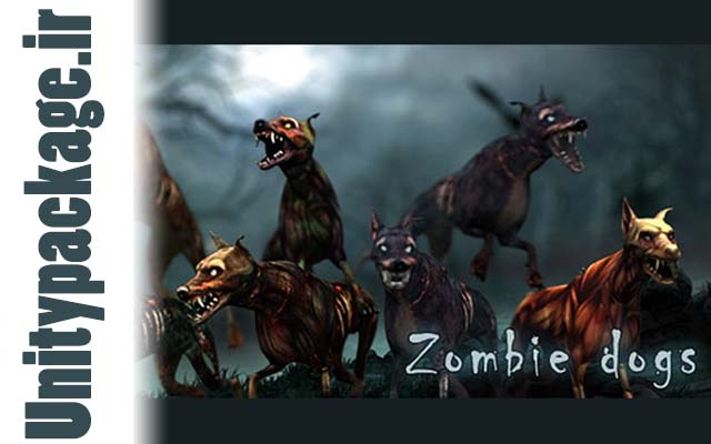 3DRT - Zombie Dogs pack (unitypackage.ir)