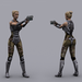 پکیج SCI FI HUMAN MERCENARY FEMALE