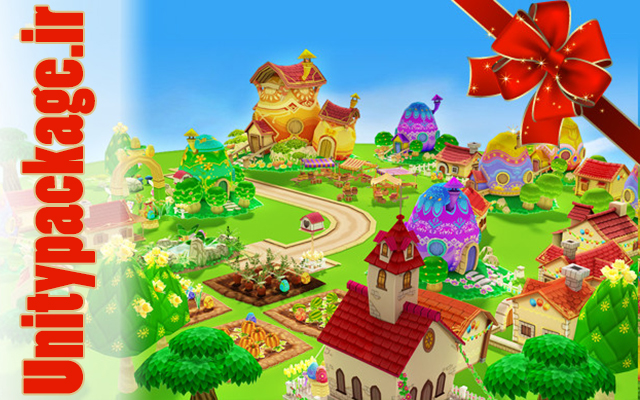 پکیج Cartoon Easter Village 1.0.1