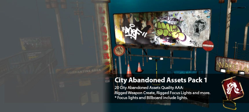 پکیج City Abandoned Assets Pack 1