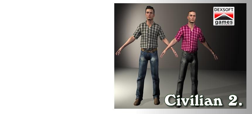 پکیج Civilian 2. Character Bundle