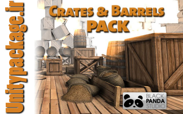 Crates and Barrels Pack (unitypackage.ir)