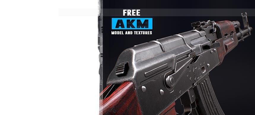 پکیج FPS AKM – Model & Textures