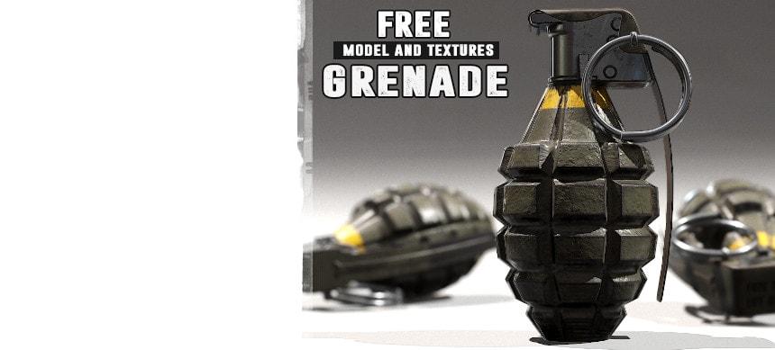 پکیج FPS Grenade – Model & Textures