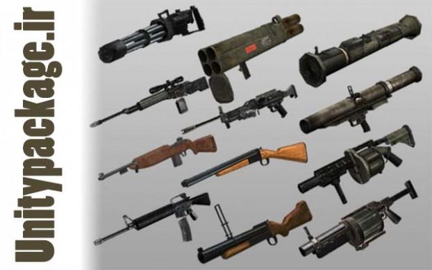FPS Guns 12 Pack (unitypackage.ir)