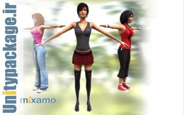 Female Character Pack (unitypackage.ir)