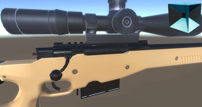 پکیج Futuristic Sniper Rifle [ PBR Ready ]