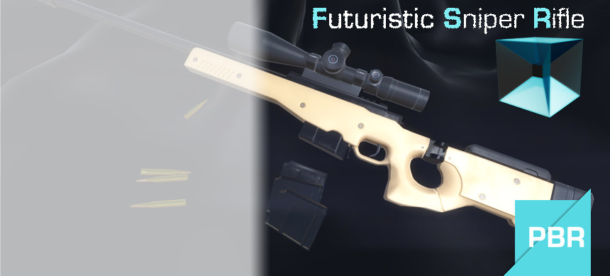 پکیج Futuristic Sniper Rifle [ PBR Ready ]
