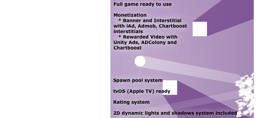 پکیج Gravity Ball Complete Game Template 2D Dynamic Lights and Shadows