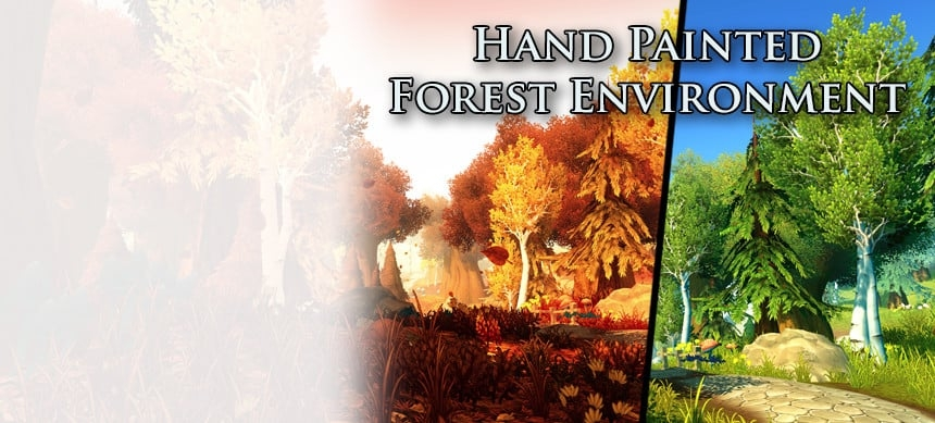 پکیج Hand Painted Forest Environment