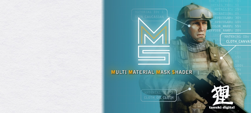 پکیج MULTI MATERIAL MASK Shader
