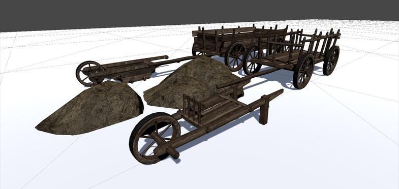 پکیج Medieval Barrows and Wagons