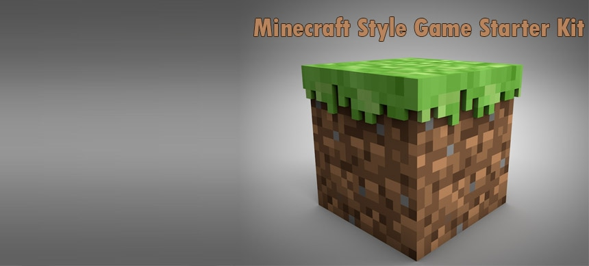 پکیج Minecraft Style Game Starter Kit