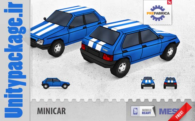 Minicar FREE - Low Poly  Mobile Ready 1.1 (unitypackage.ir)