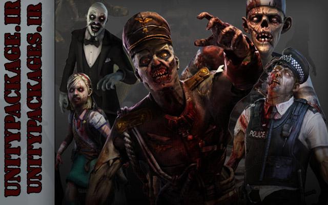 پکیج Mixamo Zombie Character Contest Pack