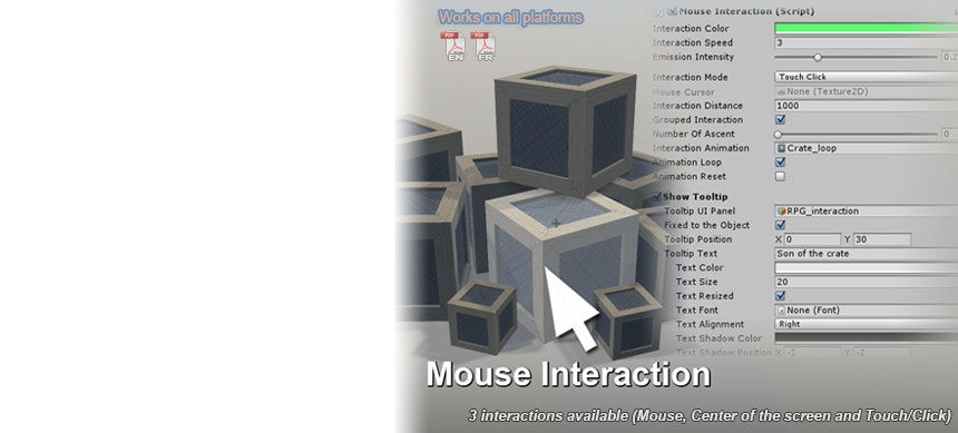 پکیج Mouse Interaction - Object Highlight