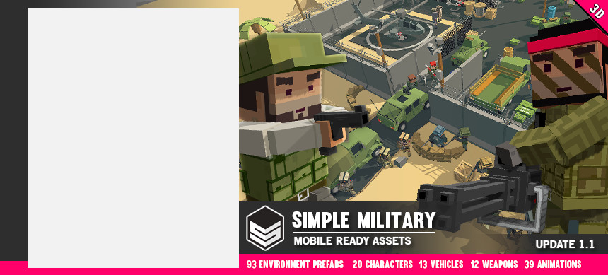 پکیج Simple Military – Cartoon War