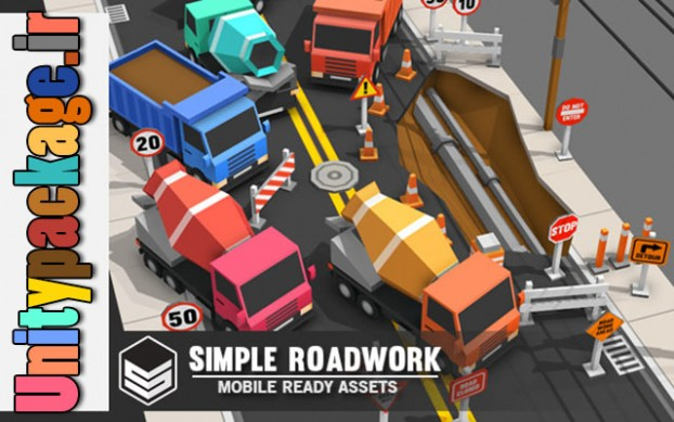 Simple Roadwork - Cartoon city 1.01 (unitypackage.ir)