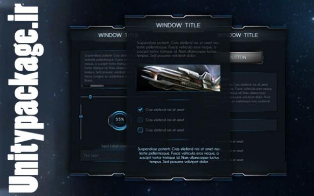 SpaceD UI (unitypackage.ir)