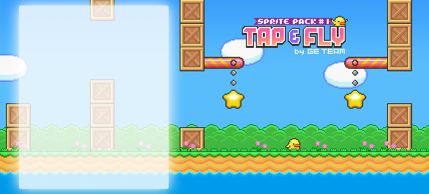 پکیج Sprite Pack #1 – Tap and Fly