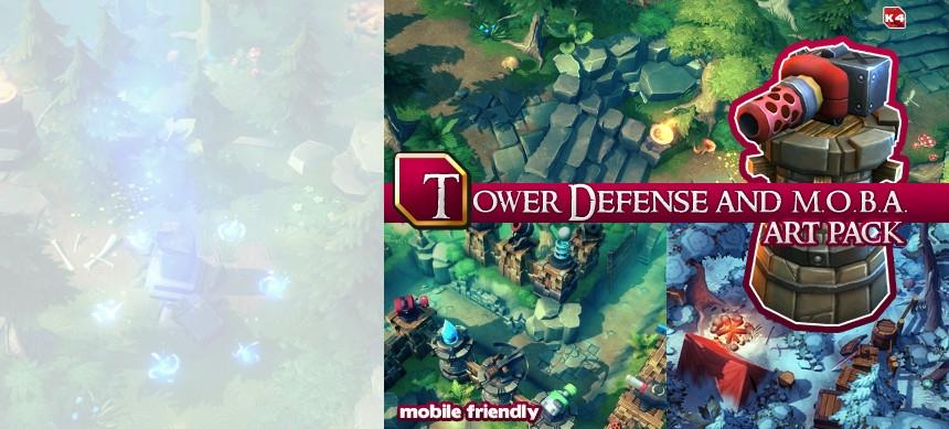 پکیج Tower Defense and MOBA