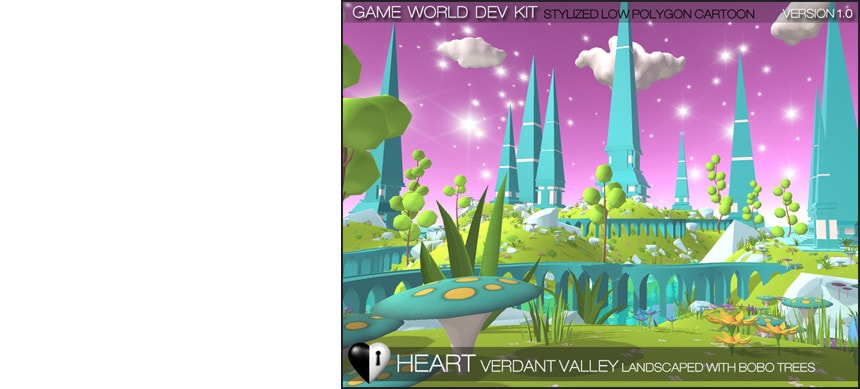 پکیج Verdant Valley – Stylized Nature Pack