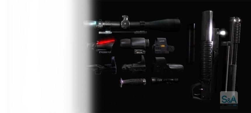 پکیج Weapon Attachments
