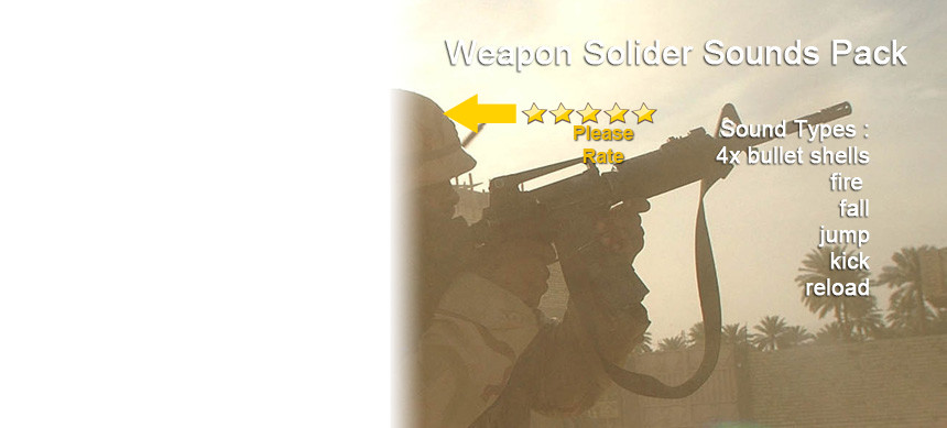 پکیج Weapon Soldier Sounds Pack