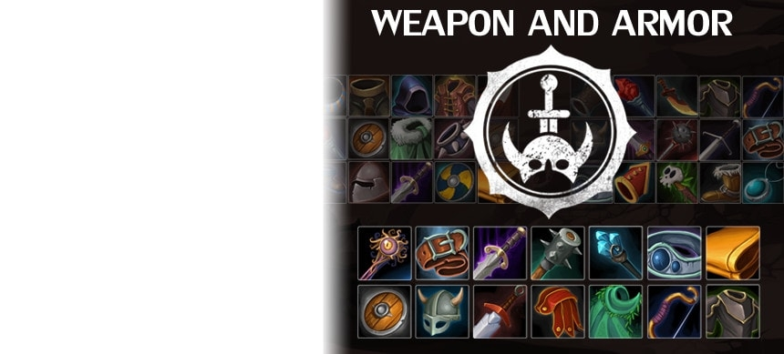 پکیج Weapon and Armor Icon Pack